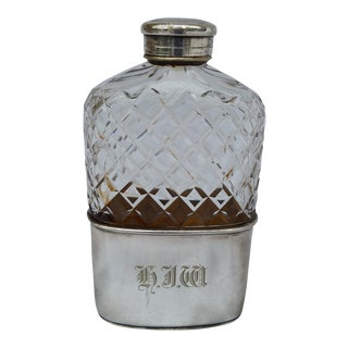 Lead Crystal and Silver Toddy Hip Flask