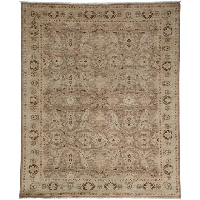 """New Oushak Hand Knotted Area Rug - 5'2"""" x 6'3"""" - Image 1 of 3"""