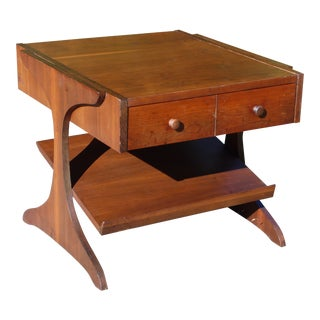 Vintage Mid Century Modern Walnut Kroehler Magazine Rack End Table Night Stand For Sale