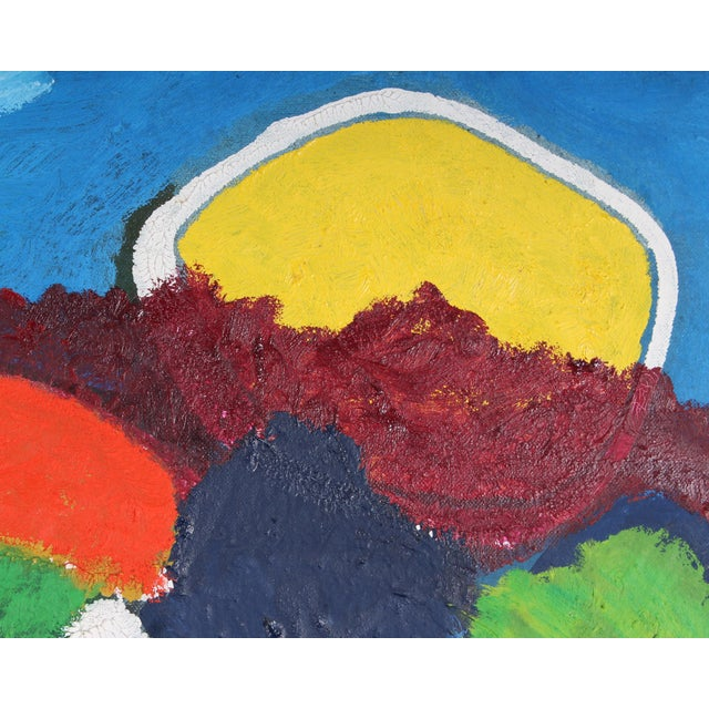 Late 20th Century Francisco Sainz Signed Oil on Canvas Abstract Painting For Sale In Indianapolis - Image 6 of 7
