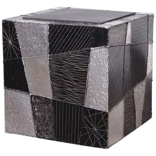 "Paul Evans ""Argente"" Cube Side Table For Sale"