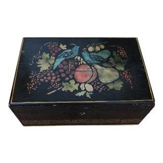 Vintage Wooden Tole Treasure Box