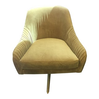 West Elm Roar + Rabbit Wasabi Velvet Swivel Chair