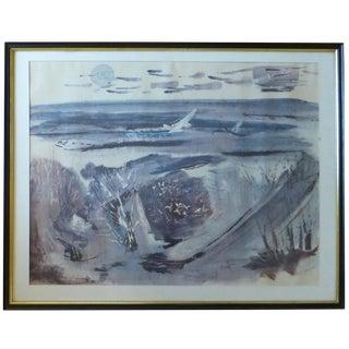 "Fred Messersmith (Fl, 1924-2004), ""Shore Birds,"" Vintage Print"