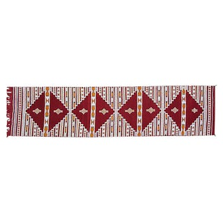 "Red and White Moroccan Berber Runner 2' 4"" x 9' 6"""