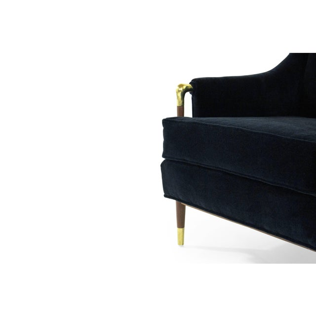 Blue Sculptural Gio Ponti Style Lounge Chair, 1950s For Sale - Image 8 of 12