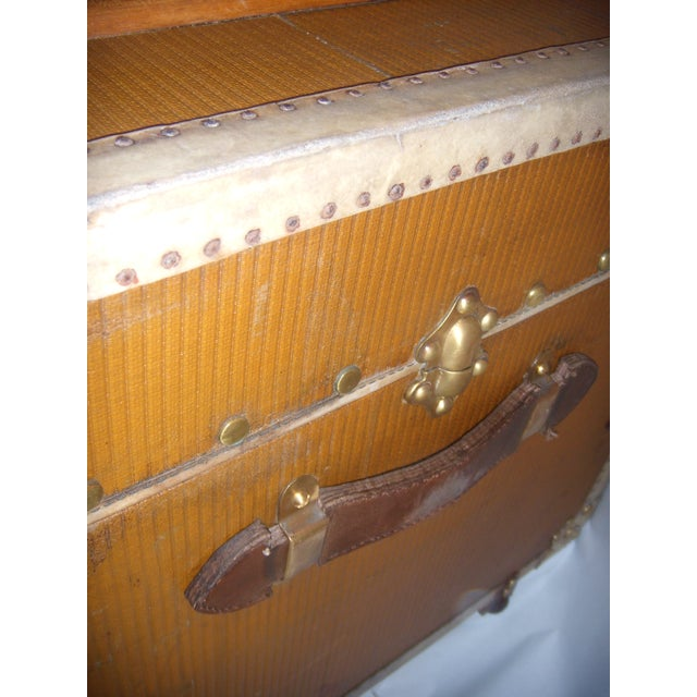 French Wood, Vellum & Leather Trunk - Image 9 of 10
