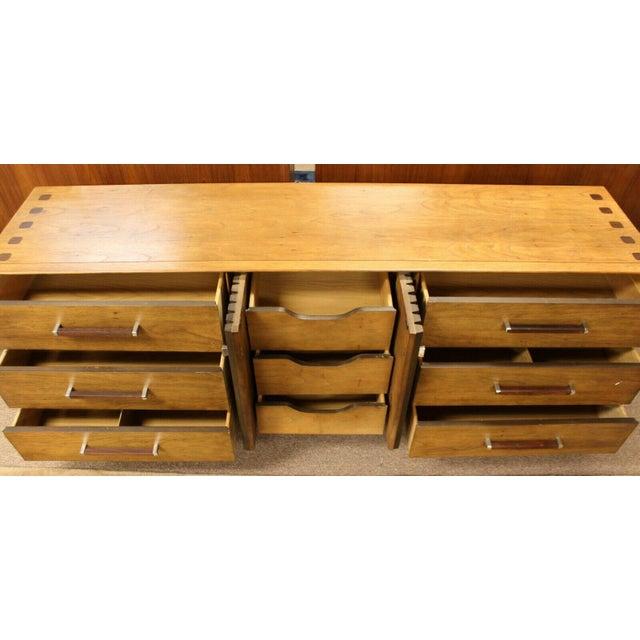 1970s Mid Century Modern Lane Rosewood Bedroom Set Dresser Headboard Cabinet - Set of 6 For Sale - Image 5 of 13