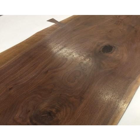 Contemporary Organic Modern Live Edge Dining Table For Sale - Image 3 of 5