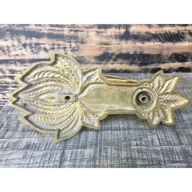 Vintage Brass Duck Door Knocker For Sale - Image 5 of 8