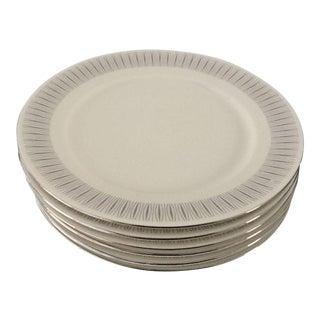 "Vintage Johann Haviland ""Tuxedo"" Pattern Dessert Plates - Set of 6"