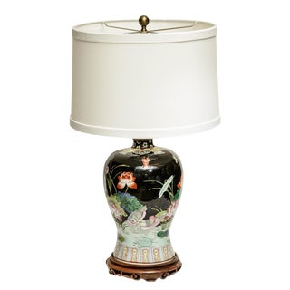 Asian Orcelain Lamp For Sale