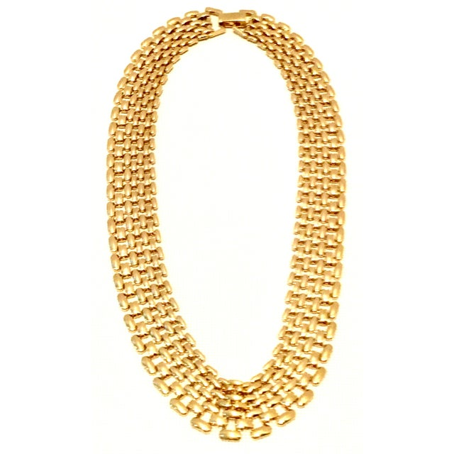 Modern 20th Century Gold Plate Link Choker Style Necklace By, Napier For Sale - Image 3 of 11