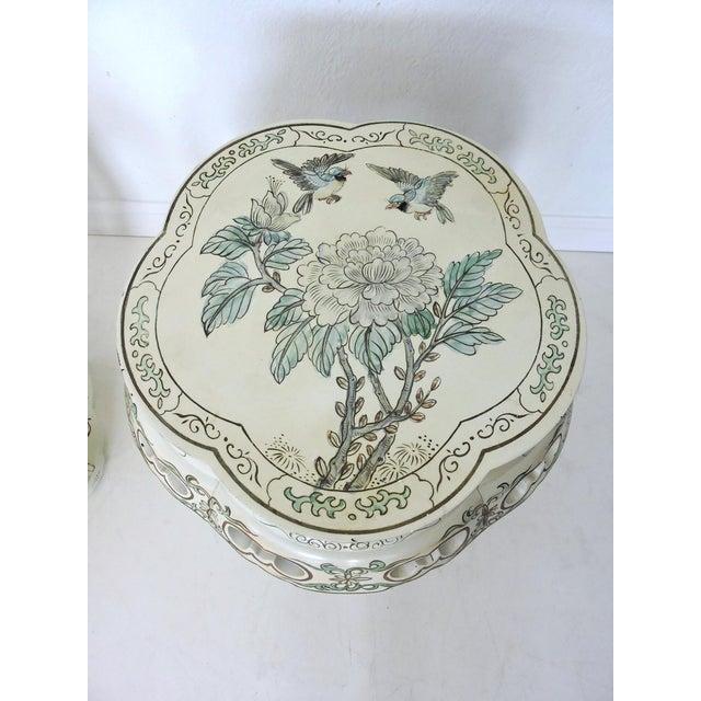 Vintage Oriental Garden Stools - a Pair - Image 5 of 8