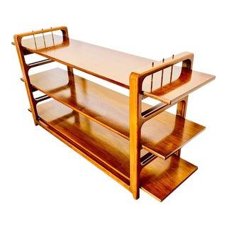 1960's Danish Modern Teak Console Shelving Unit For Sale