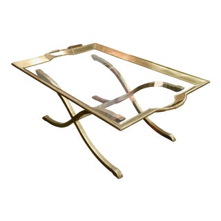 Midcentury Italian Brass Coffee Table