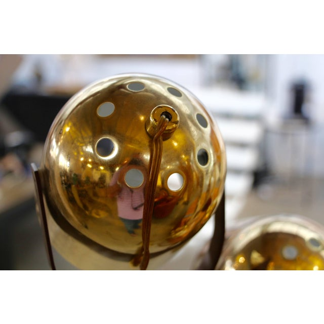 Mid-Century Modern Reggiani Brass Floor Lamp With Four Heads For Sale - Image 3 of 8