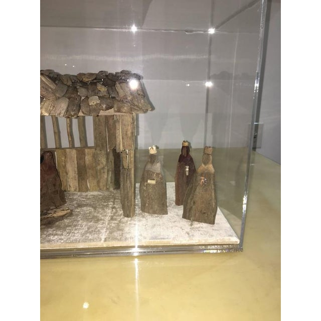 Customizable Nativity Scene in Driftwood and Lucite Object D'Art by AMK for Patricia Kagan - Image 6 of 7