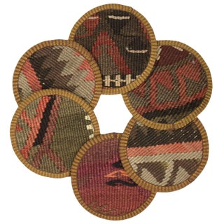 Kilim Coasters Set of 6 | Acıçeşme For Sale