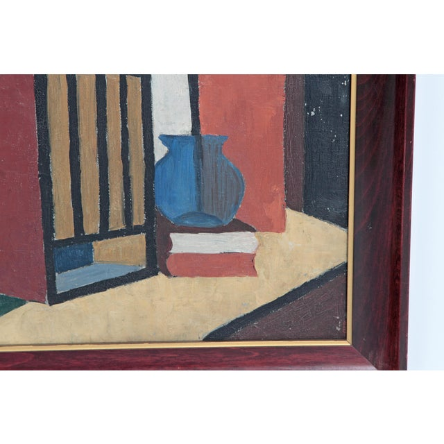 Mid 20th Century 20th Century American Abstract Still Life by Flora Scofield, Oil on Canvas For Sale - Image 5 of 12