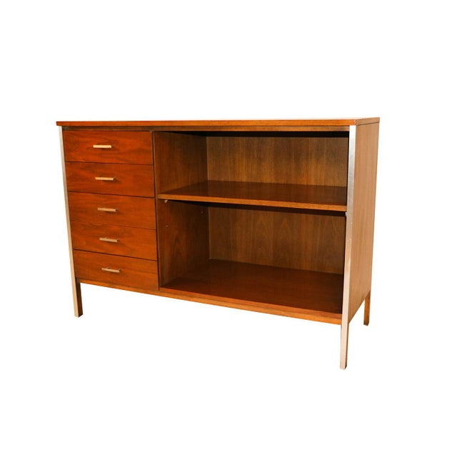 Brown Mid Century Paul McCobb Calvin Group Dresser Media Center Bar Cabinet For Sale - Image 8 of 8