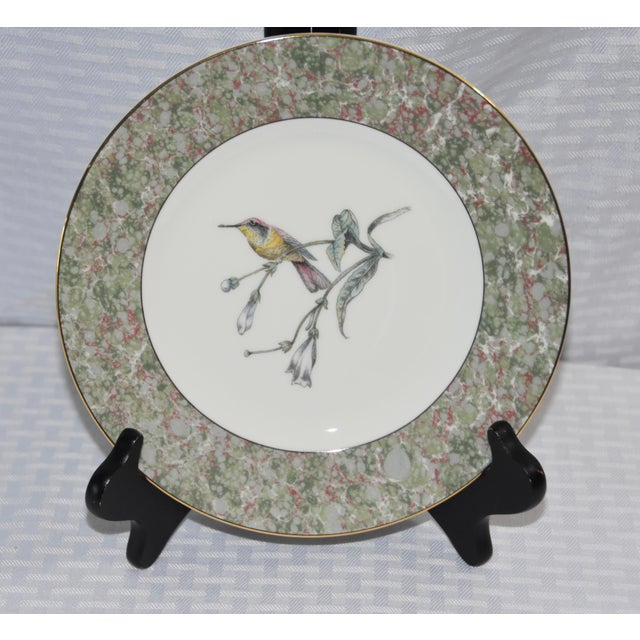 """Humming Birds by Wedgwood Salad/Dessert 8"""" Plate Set of 5 plates Wedgwood's Hummingbird collection celebrates the..."""