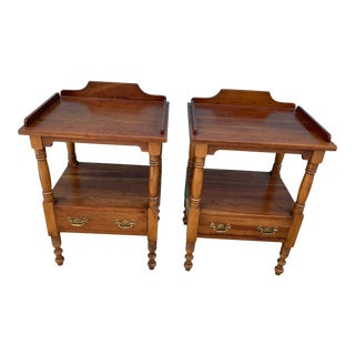 1959 Stickley Fayetteville Syracuse Nightstands - a Pair For Sale