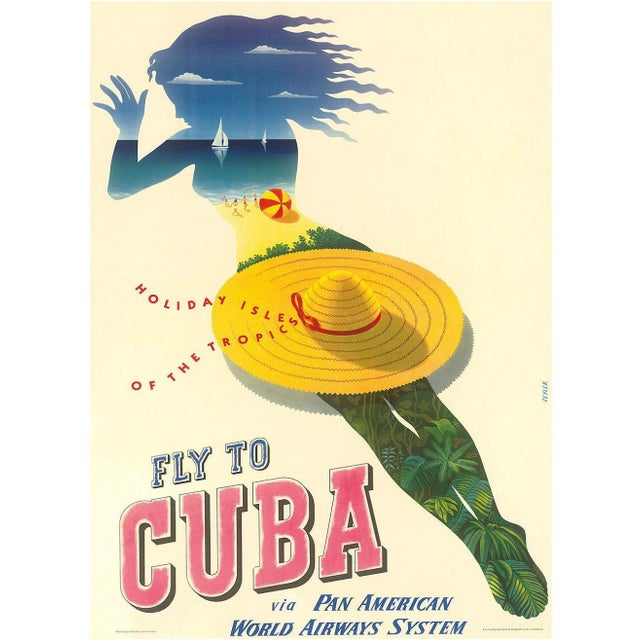 Framed Cuba Travel Poster - Image 2 of 2