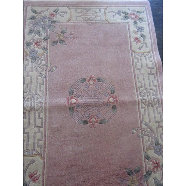 Asian Pink & White Runner Rug - 3′6″ × 6′6″ - Image 4 of 10