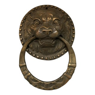 Asian Tiger Head Brass Door Knocker
