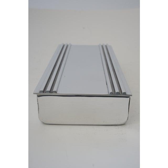 Kensington Ware Vintage American Art Deco 1930s Kensington Box Aluminum For Sale - Image 4 of 11