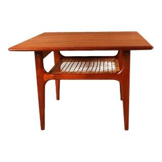 Mid Century Modern Trioh Danish Teak End Table For Sale