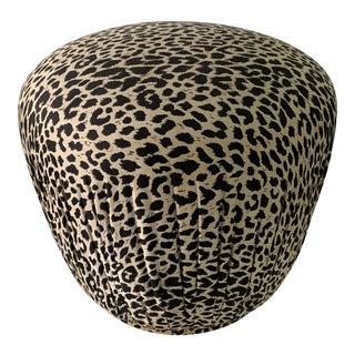 Cheetah Print Ottoman Pouf For Sale