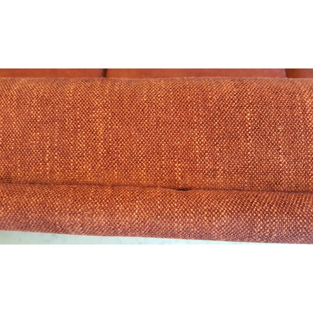 DUX Large Swedish Mid-Century Modern/Space Age Folke Ohlsson for Dux Red Sofa/Couch For Sale - Image 4 of 8