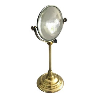 Large Burning Magnifying Lens on Stand For Sale