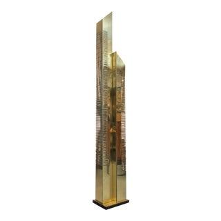 1977 C Jere Brass Skyscraper Floor Lamp For Sale