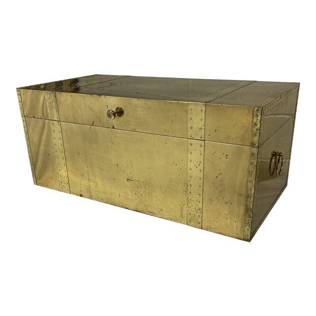 Vintage Brass Trunk For Sale