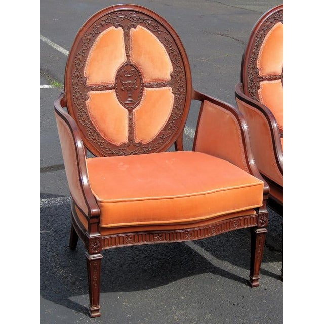 Louis XV Carved Walnut Upholstered Armchairs - A Pair For Sale - Image 3 of 8