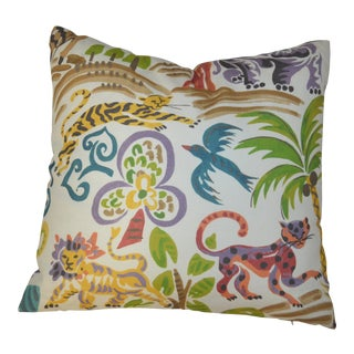 Lion and Cheetah Print Pillow For Sale