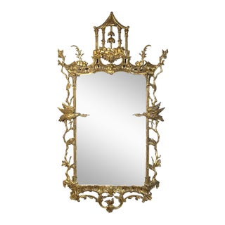 George II Chinese Chippendale Wall Mirror For Sale
