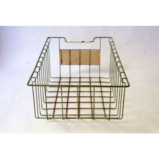 Copper Vintage Mid Century Wire Basket For Sale - Image 7 of 13
