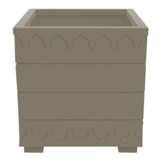 Ocean Drive Outdoor Planter Large, Taupe For Sale