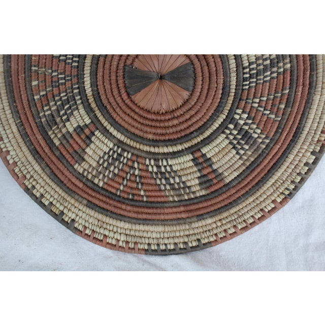 Tribal Style Brown Platter For Sale - Image 4 of 7