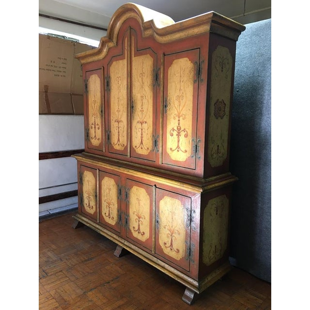 Hand-Painted German Armoire - Image 8 of 8