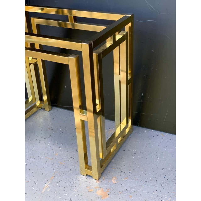 Milo Baughman Style Brass Table Base For Sale - Image 9 of 12