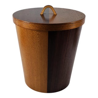 Mid-Century Teak and Rosewood Ice Bucket For Sale