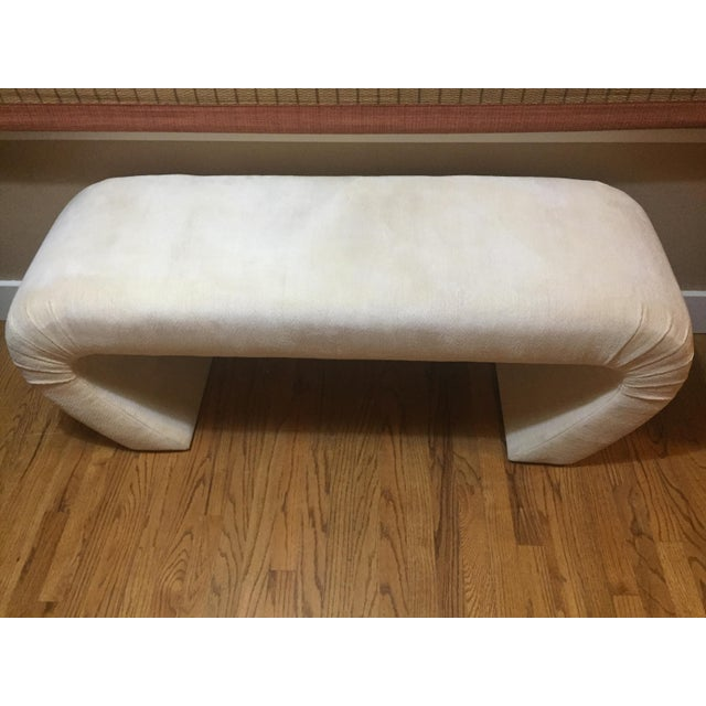 Karl Springer Karl Springer Upholstered Waterfall Bench For Sale - Image 4 of 9