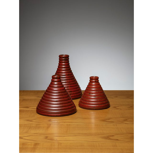 Set of 3 Ceramic Vases by Il Punto For Sale - Image 4 of 4