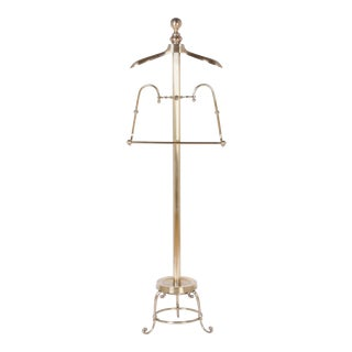 Edwardian Brass Coat Stand For Sale