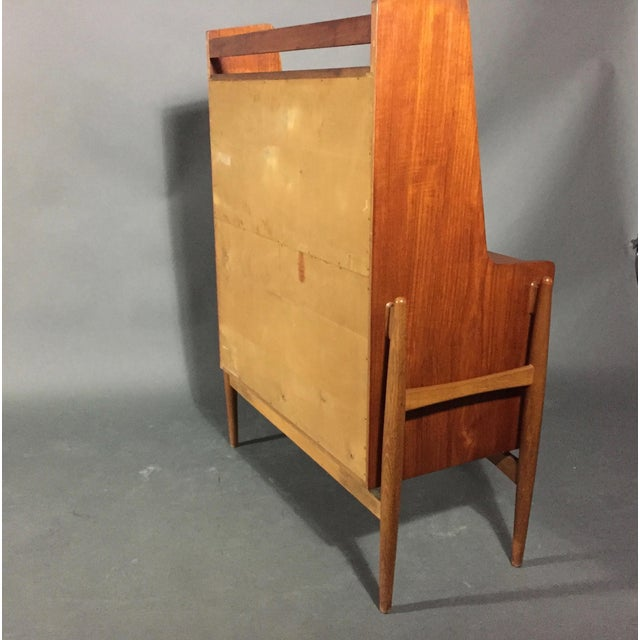 Poul Volther Teak Floating Frame Secretary, Denmark 1960s For Sale - Image 10 of 11